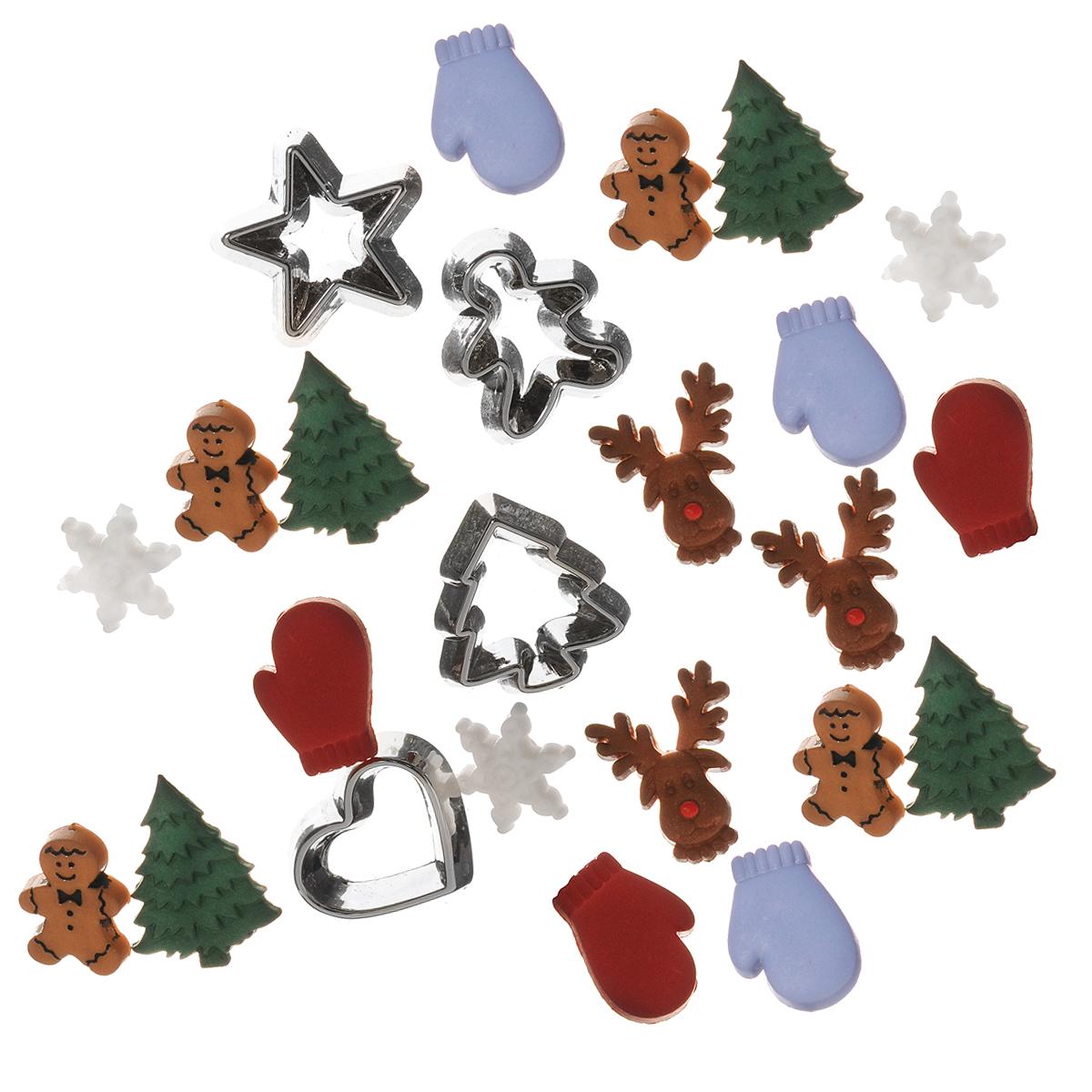 Набор пуговиц и фигурок Dress It Up Кусочки дерева, 20 шт. 77024687702468Набор Dress It Up Кусочки дерева состоит из 20 декоративных пуговиц и фигурок, выполненных из пластика. Такие пуговицы и фигурки подходят для любых видов творчества: скрапбукинга, декорирования, шитья, изготовления кукол, а также для оформления одежды. С их помощью вы сможете украсить открытку, фотографию, альбом, подарок и другие предметы ручной работы. Пуговицы и фигурки разных цветов имеют оригинальный и яркий дизайн.