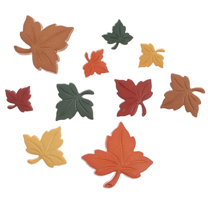 Пуговицы декоративные Dress It Up Осенние листья, 8 шт. 77020487702048Набор Dress It Up Осенние листь состоит из 8 декоративных пуговиц, выполненных из пластика в форме листьев различных размеров. Такие пуговицы подходят для любых видов творчества: скрапбукинга, декорирования, шитья, изготовления кукол, а также для оформления одежды. С их помощью вы сможете украсить открытку, фотографию, альбом, подарок и другие предметы ручной работы. Пуговицы разных цветов имеют оригинальный и яркий дизайн.