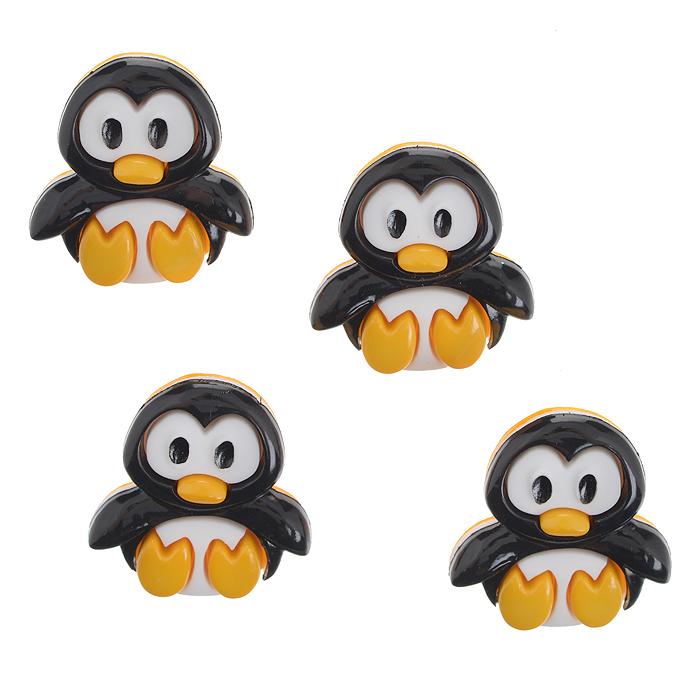 Пуговицы декоративные Dress It Up Пингвин, 4 шт. 77021317702131Набор Dress It Up Пингвин состоит из 4 декоративных пуговиц, выполненных из пластика в форме пингвинов. Такие пуговицы подходят для любых видов творчества: скрапбукинга, декорирования, шитья, изготовления кукол, а также для оформления одежды. С их помощью вы сможете украсить открытку, фотографию, альбом, подарок и другие предметы ручной работы. Пуговицы разных цветов имеют оригинальный и яркий дизайн.
