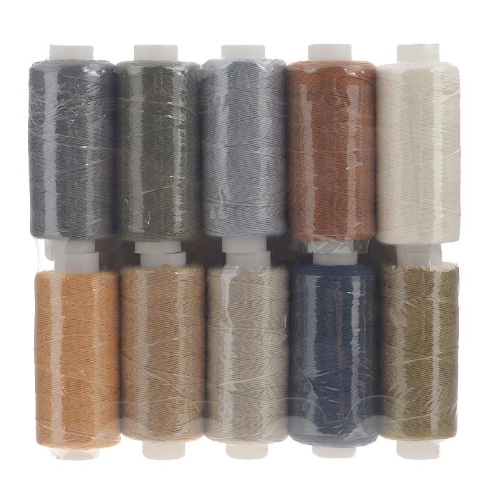 Набор ниток Ассорти 20/3, 120 м, 10 бобин. 675491_3675491_3_ассорти №3Набор Ассорти 20/3 состоит из 10 бобин с нитками 10 цветов. Универсальная швейная нить изготовлена из 100% полиэстера и рекомендуется для бытовых и швейных машин, а также рукоделия. Нить используется для швов повышенной прочности, декоративных швов, в пошиве сумок, спецодежды, галантереи и многого другого.