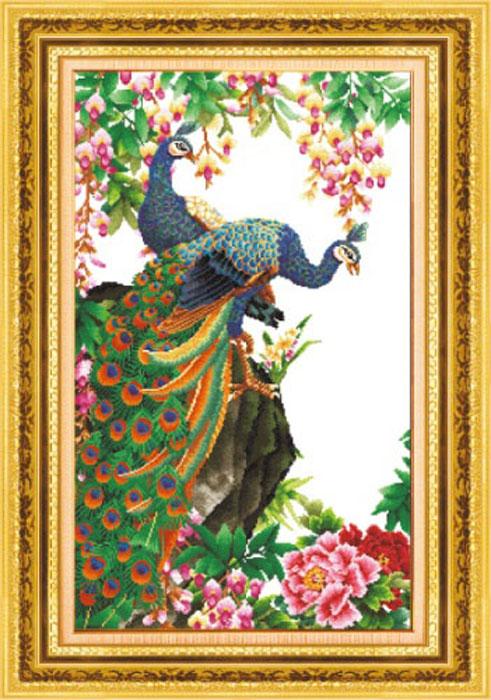 Набор для вышивания крестом Hobby & Pro Павлины, 38 х 63 см S-0057705068