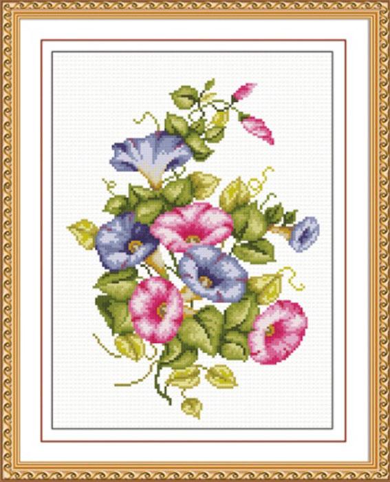 Набор для вышивания крестом Hobby & Pro Ипомея, 20 см х 45 см. S-0187705081