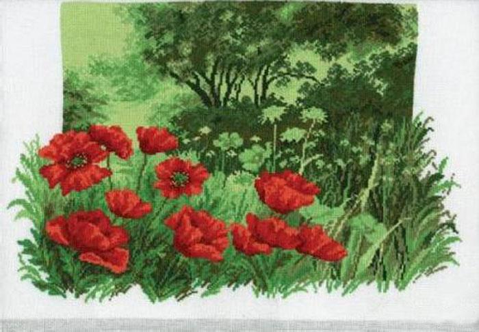 Набор для вышивания крестом Hobby & Pro Лесные маки, 35 см х 24 см. 650680637