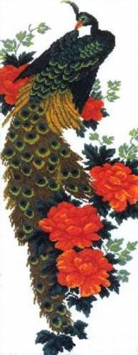 Набор для вышивания крестом Hobby & Pro Павлин, 50 см х 20 см. 625642715