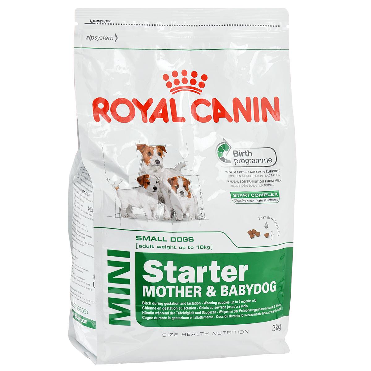 Корм сухой Royal Canin Mini Starter, для щенков и кормящих собак мелких пород, 3 кг8671Корм сухой Royal Canin Mini Starter - полнорационный корм для щенков в период отъема до 2-месячного возраста. Также подходит для сук в последней трети беременности и во время лактации. Основанная на данных профессиональных исследований, программа рождения - это уникальное диетологическое решение, которое удовлетворяет потребности суки и ее щенков на пяти этапах жизненного цикла: беременность, рождение, лактация, отъем и рост до 2 месяцев. Безопасность пищеварения - естественные механизмы защиты. Продукт современной науки от Royal Canin, START COMPLEX – это эксклюзивная комбинация питательных веществ, имеющихся в молоке матери, усиленная дополнительными веществами, которые активно способствуют безопасности пищеварения и укрепляют естественный иммунитет щенков. Поддержка во время беременности/лактации. Диетологическое решение, адаптированное к высоким потребностям суки в конце периода беременности и во время лактации. Идеальный продукт для...