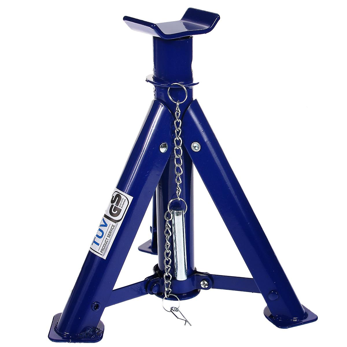 Подставка для автомобиля FIT, складная, 2 кг64590Подставка для автомобиля FIT, изготовленная из инструментальной стали, применяется как средство дополнительной страховки при поднятии автомобиля домкратом. 3 складные ножки для экономии места, удобства перевозки и хранения. Материал: инструментальная сталь. Максимальная нагрузка: 2 т. Высота подъема: 275-365 мм.