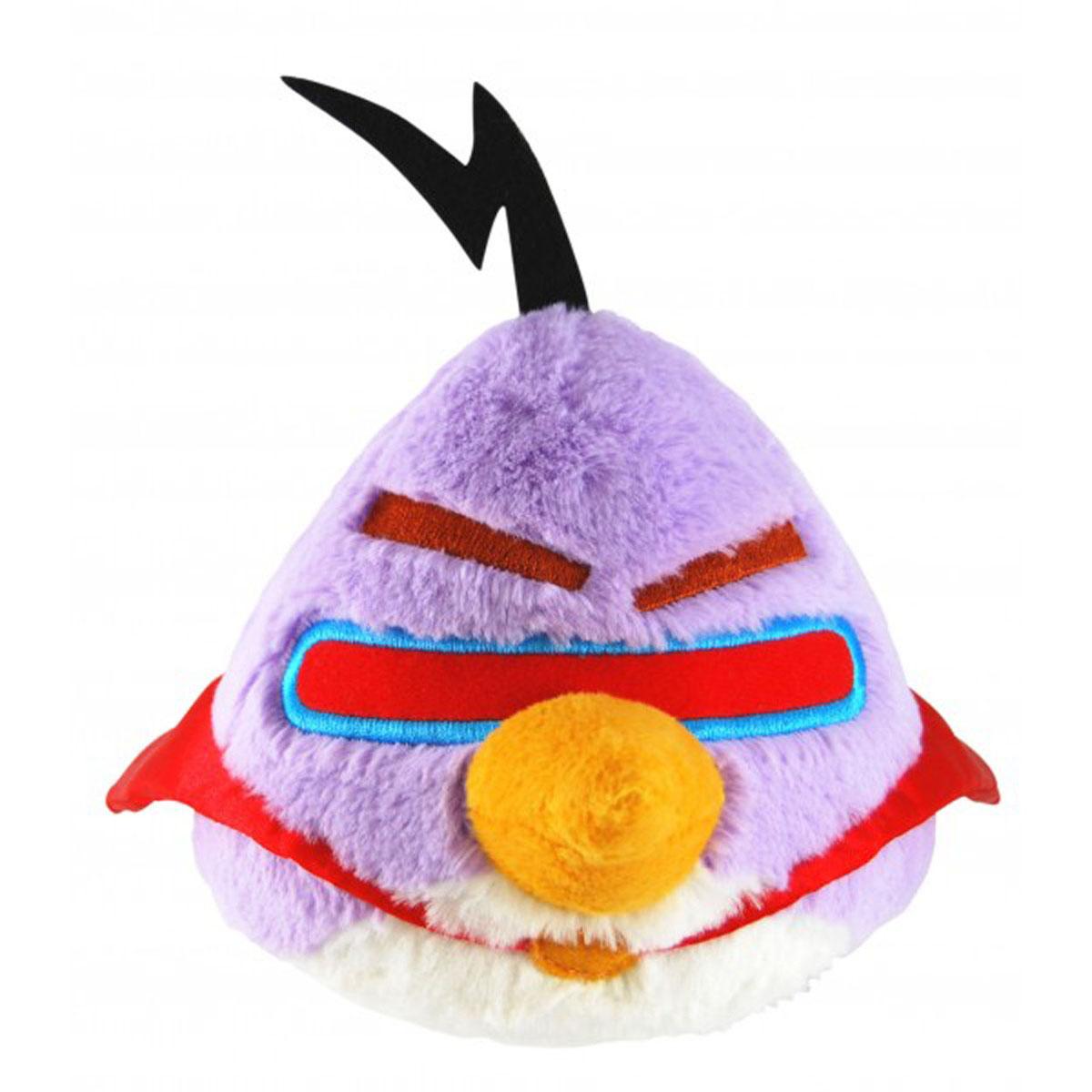 Мягкая игрушка Angry Birds Space, фиолетовая птица, со звуком, 40 см93024Мягкая игрушка Angry Birds Space, выполненная в виде персонажа всеми любимой игры Angry Birds - птички, подарит вашему ребенку много радости и веселья! Игрушка удивительно приятна на ощупь. При нажатии на игрушку, ваш ребенок услышит забавные звуки. Порадуйте своего ребенка таким замечательным подарком. Чудесная мягкая игрушка принесет радость и подарит своему обладателю мгновения нежных объятий и приятных воспоминаний.