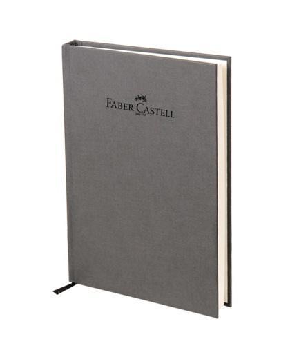 "Faber-Castell Блокнот, серия ""Natural"", формат А6, 100 стр. темно-серый, в линейку 400704"
