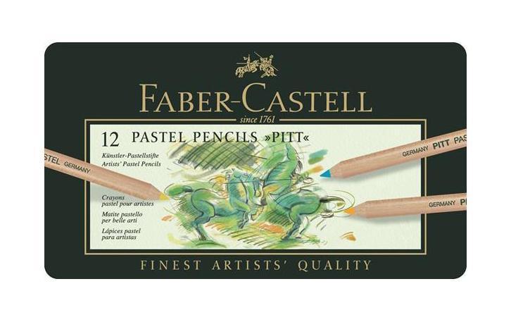 Пастельные карандаши PITT®, набор цветов, в металлической коробке, 12 шт.112112Faber Castell PITT 112112 - это пастельные карандаши высокого качества, устойчивые к выцветанию. Они не содержат воска, имеют исключительно толстые грифели 4.3 мм. Вид карандаша: цветной. Материал: дерево.