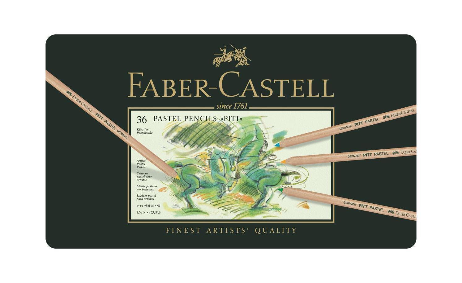 Пастельные карандаши PITT®, набор цветов, в металлической коробке, 36 шт.112136Faber Castell PITT 112136 - это пастельные карандаши высокого качества, устойчивые к выцветанию. Они не содержат воска, имеют исключительно толстые грифели 4.3 мм. Вид карандаша: цветной. Материал: дерево.