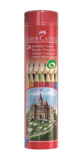 Цветные карандаши COLOUR PENCILS, набор цветов, в тубе, 24 шт.115827Faber Castell 115827 - это цветные карандаши, изготовленные по специальной технологии SV, благодаря которой предотвращается поломка и крошение грифеля внутри корпуса. Faber Castell 115827 выполнены из высококачественной древесины, гарантирующей легкость затачивания при помощи стандартных точилок. Вид карандаша: цветной. Материал: дерево.
