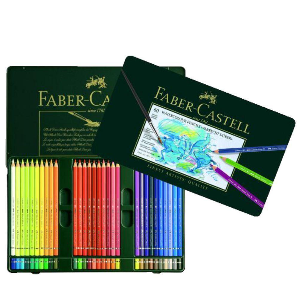 Акварельные карандаши ALBRECHT DURER®, набор цветов, в металлической коробке, 60 шт.117560Вид карандаша: Акварельный. Материал: дерево.