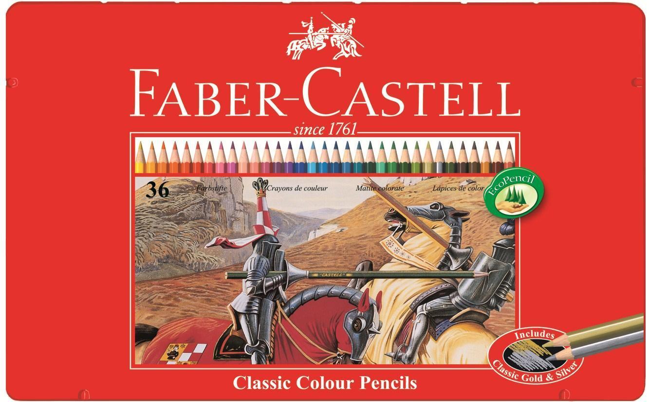 Цветные карандаши РЫЦАРЬ, набор цветов, в металлической коробке, 36 шт.115846Вид карандаша: цветной. Материал: дерево.