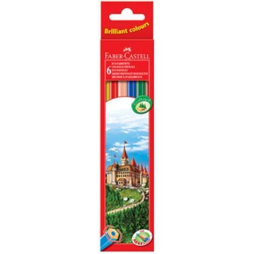 Цветные карандаши ECO ЗАМОК, набор цветов, в картонной коробке, 6 шт.120106Вид карандаша: цветной. Материал: дерево.
