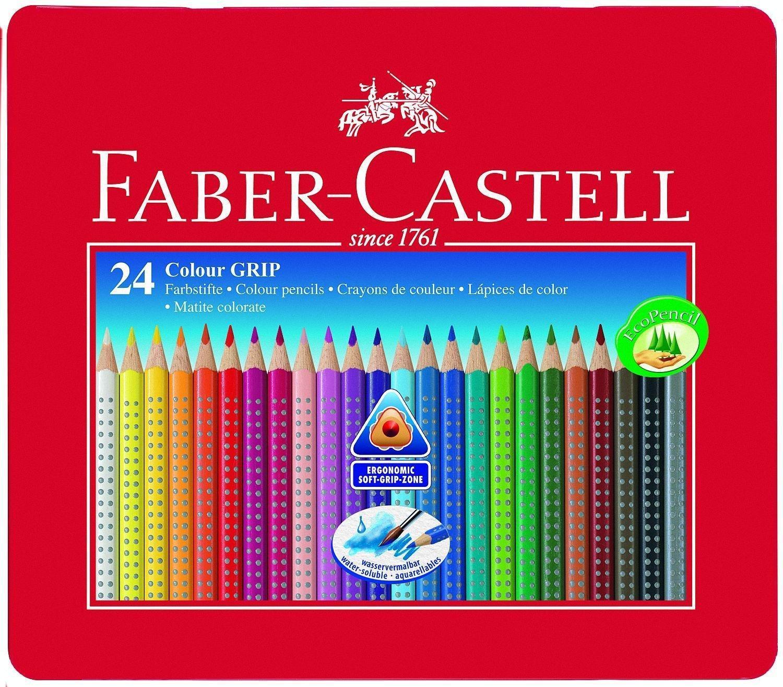 Цветные карандаши GRIP 2001, в металлической коробке, 24 шт.112423Вид карандаша: цветной. Материал: дерево.