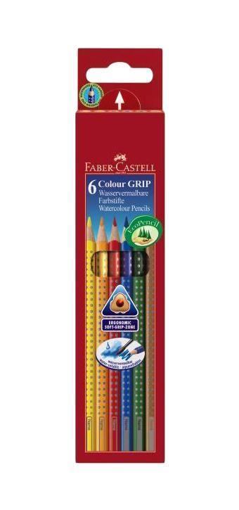 Цветные карандаши GRIP 2001, набор цветов, в картонной коробке, 6 шт.112406Faber Castell GRIP 2001 112406 - цветные карандаши выполнены в эргономичной трехгранной форме, имеют яркие, насыщенные цвета. Важным преимуществом является то, что данные карандаши хорошо отстирываются с большинства тканей. Вид карандаша: цветной. Материал: дерево.