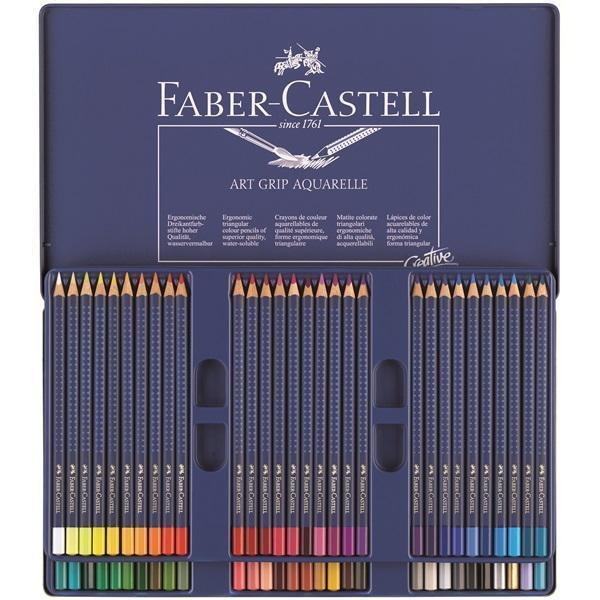 Акварельные карандаши ART GRIP AQUARELLE, набор цветов, в металлической коробке, 60 шт.114260Вид карандаша: Акварельный. Материал: дерево.