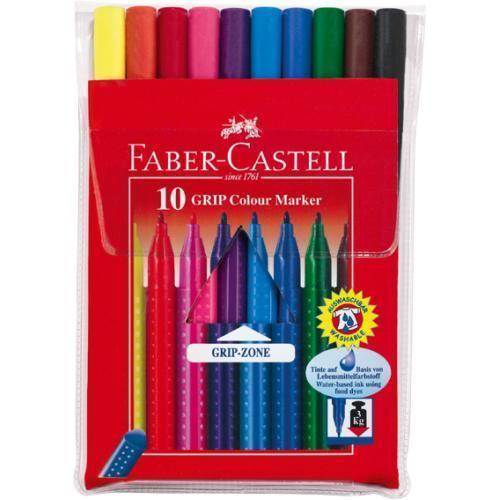 Фломастеры GRIP, набор цветов, в футляре,10 шт.155310Цветные фломастеры JUMBO, набор цветов, в картонной коробке, 10 шт. Материал: пластик.