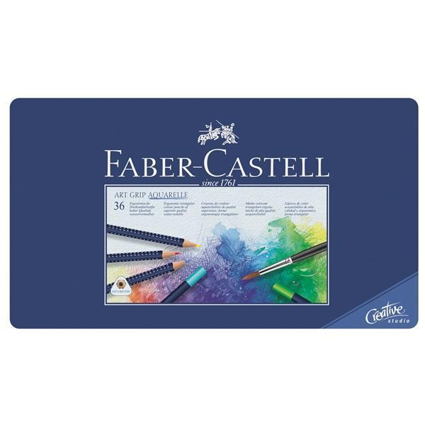 Акварельные карандаши ART GRIP AQUARELLE, набор цветов, в металлической коробке, 36 шт.114236Вид карандаша: Акварельный. Материал: дерево.