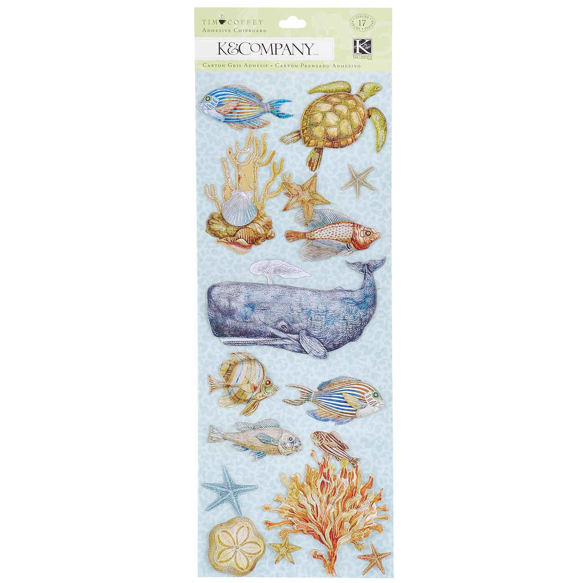 Стикеры-украшения K&Company Морские животные, 17 штKCO-30-658424