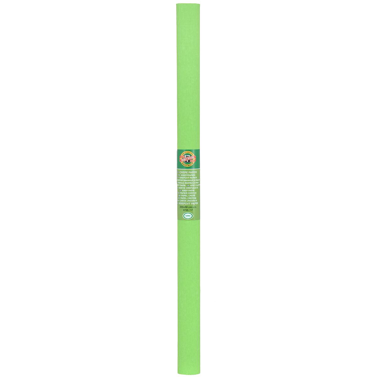"""Бумага гофрированная """"Koh-I-Noor"""", цвет: светло-зеленый, 50 см x 2 м"""