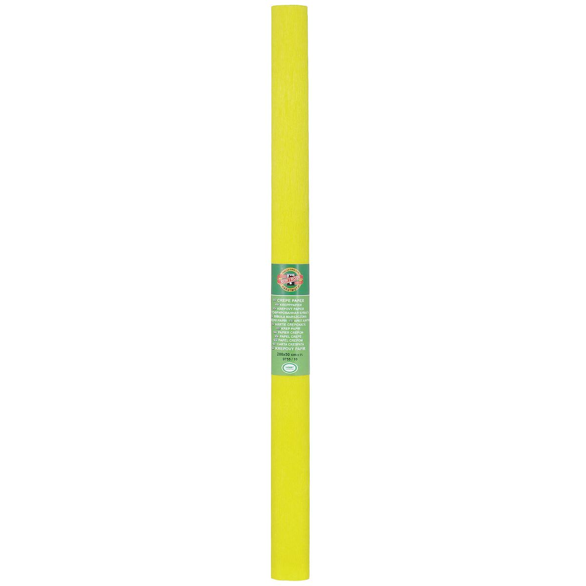 Бумага крепированная Koh-I-Noor, цвет: желтый, 50 см x 2 м9755/09Крепированная бумага Koh-I-Noor - прекрасный материал для декорирования, изготовления эффектной упаковки и различных поделок. Бумага прекрасно держит форму, не пачкает руки, отлично крепится и замечательно подходит для изготовления праздничной упаковки для цветов.