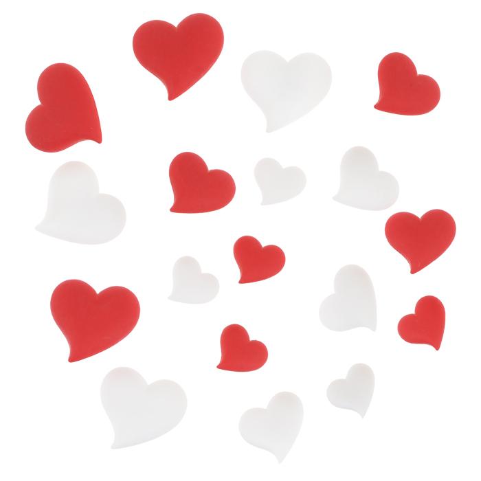 Пуговицы декоративные Dress It Up Сердечки, 15 шт. 77063137706313Набор Dress It Up Сердечки состоит из 15 декоративных пуговиц, выполненных из пластика в форме разных сердечек. Такие пуговицы подходят для любых видов творчества: скрапбукинга, декорирования, шитья, изготовления кукол, а также для оформления одежды. С их помощью вы сможете украсить открытку, фотографию, альбом, подарок и другие предметы ручной работы. Пуговицы разных цветов имеют оригинальный и яркий дизайн.