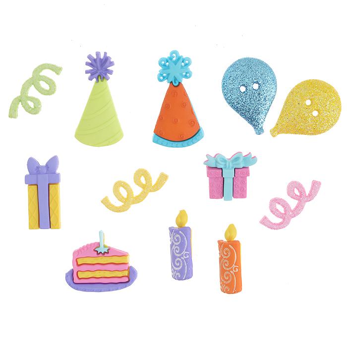 Набор пуговиц и фигурок Dress It Up День рождения, 10 шт. 7702251(2168)7702251