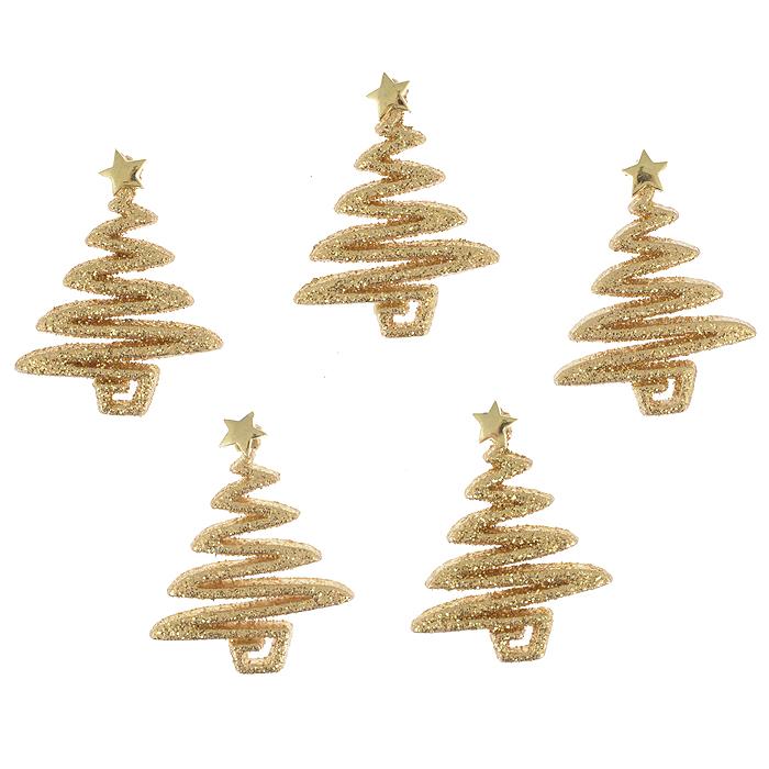 Фигурки декоративные Dress It Up Блеск золотого дерева, цвет: золотистый, 5 шт. 77024427702442