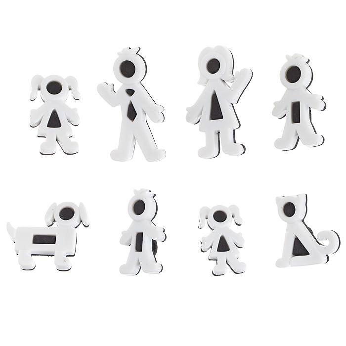 Пуговицы декоративные Dress It Up Фигурки, цвет: белый, черный, 8 шт. 77023147702314