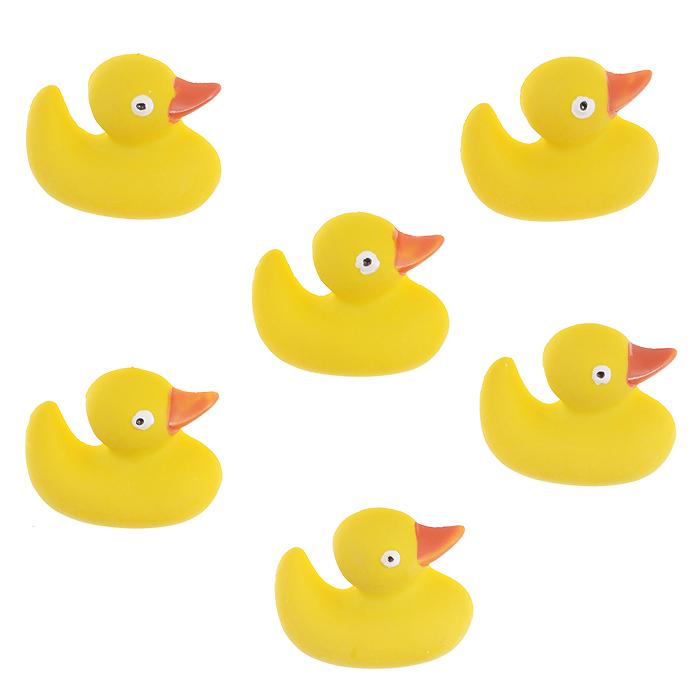 Пуговицы декоративные Dress It Up Уточки, цвет: желтый, 6 шт. 77020707702070