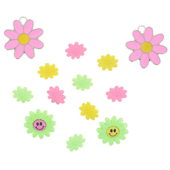 Набор пуговиц и фигурок Dress It Up Веселые цветы, 11 шт. 77063287706328