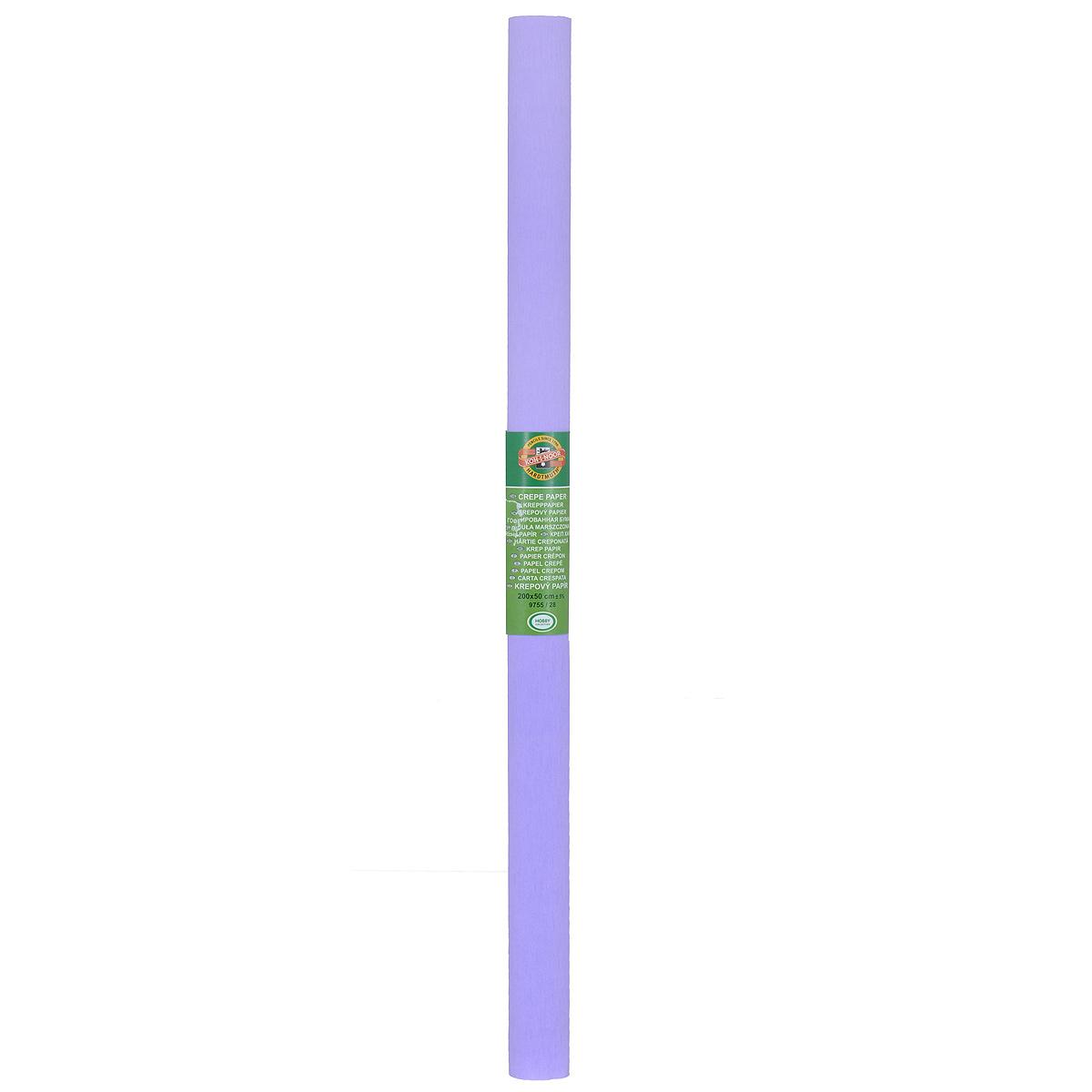 Бумага гофрированная Koh-I-Noor, цвет: сиреневый, 50 см x 2 м9755/28Крепированная бумага Koh-I-Noor - прекрасный материал для декорирования, изготовления эффектной упаковки и различных поделок. Бумага прекрасно держит форму, не пачкает руки, отлично крепится и замечательно подходит для изготовления праздничной упаковки для цветов.