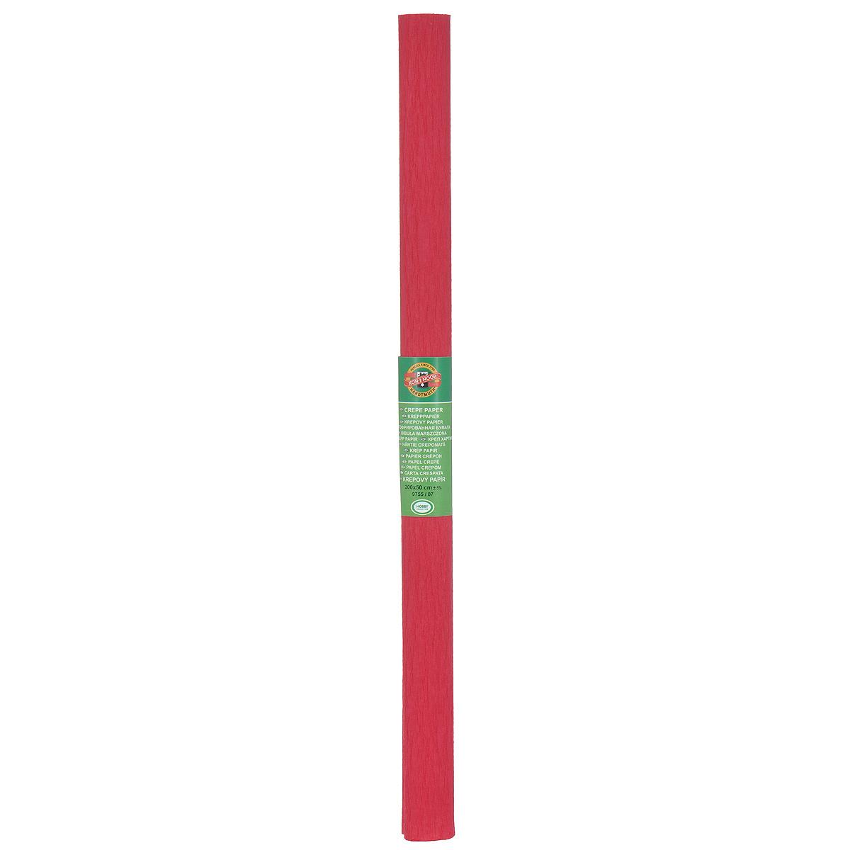 """Бумага гофрированная """"Koh-I-Noor"""", цвет: темно-красный, 50 см x 2 м"""