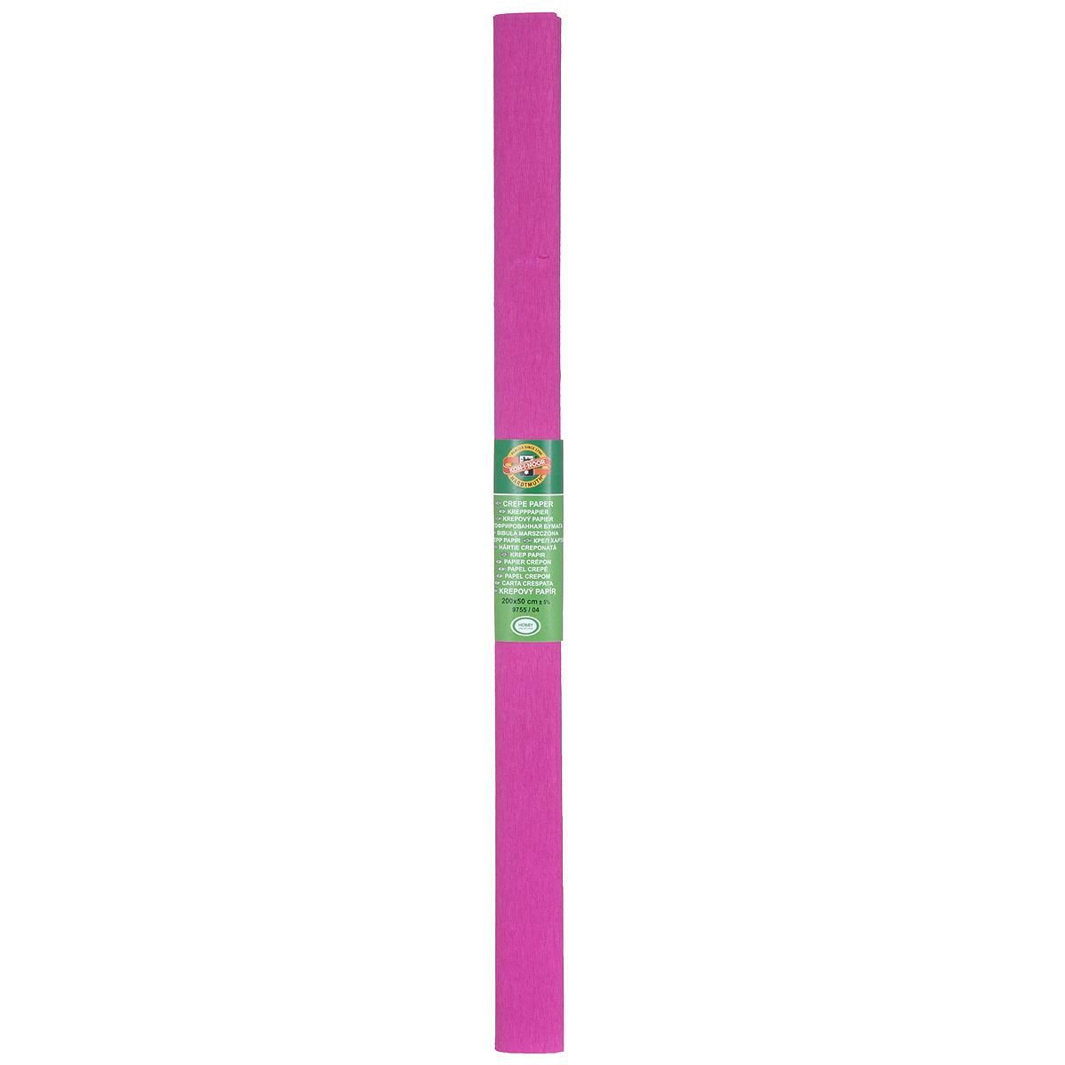 Бумага гофрированная Koh-I-Noor, цвет: фуксия, 50 см x 2 м