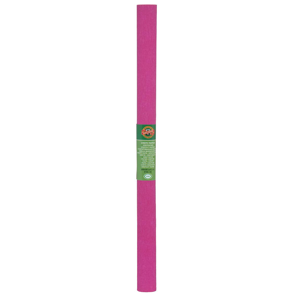 """Бумага гофрированная """"Koh-I-Noor"""", цвет: малиновый, 200 х 50 см"""