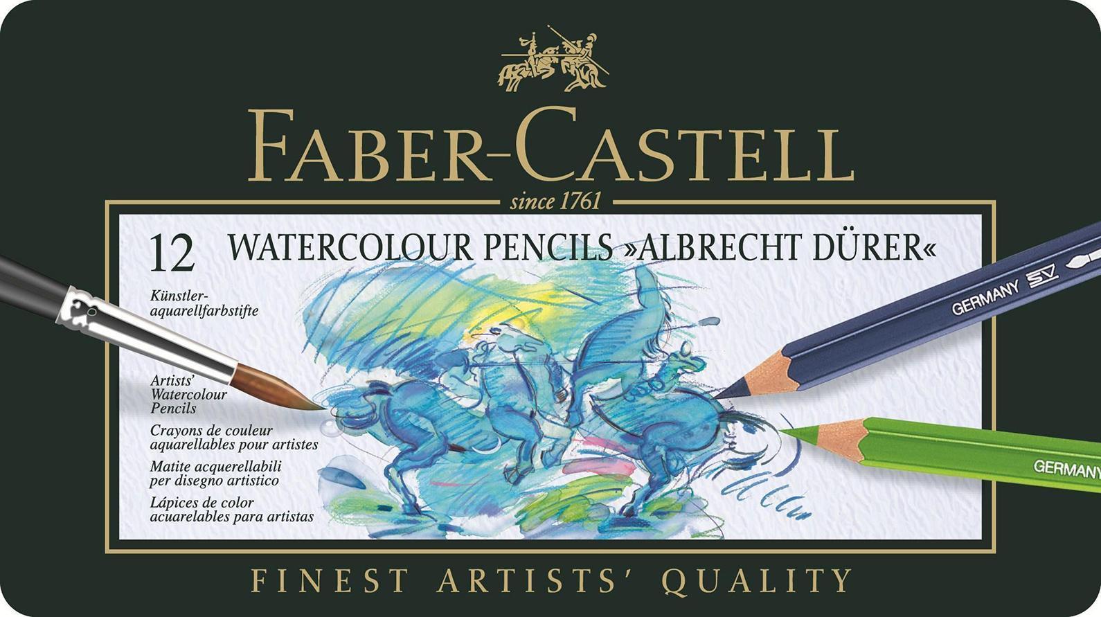 Акварельные карандаши ALBRECHT DURER®, набор цветов, в металлической коробке, 12 шт.117512В наборе карандаши 12 цветов: белый, желтый, оранжевый, красный, фиолетовый, голубой, синий,зеленый, салатовый, бежевый, коричневый, черный.