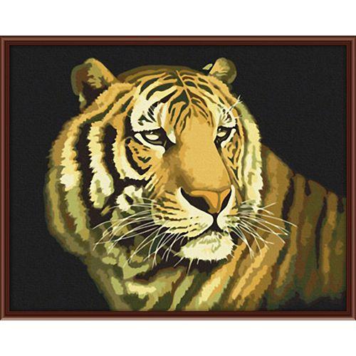 Живопись на холсте Fresh Art Тигр, 40 х 50 см G0367704727Живопись на холсте Fresh Art Тигр - это набор для раскрашивания по номерам красками на холсте. Каждая краска имеет свой номер, соответствующий номеру на картинке. Нужно только аккуратно нанести необходимую краску на отмеченный для нее участок. Таким образом, шаг за шагом у вас получится великолепная картина. С помощью такого набора вы можете стать настоящим художником и создателем прекрасных картин. Вы получите истинное удовольствие от погружения в процесс творчества, и созданные своими руками картины украсят интерьер вашего дома или станут прекрасным подарком. Техника раскрашивания на холсте по номерам дает возможность легко рисовать даже сложные сюжеты. Прекрасно развивает художественный вкус, аккуратность и внимание. В набор входят: - профессиональный прогрунтованный холст из 100% хлопка, натянутый на деревянный подрамник, - специально разработанные нетоксичные, экологичные, безопасные, устойчивые к выцветанию краски (19 цветов), -...