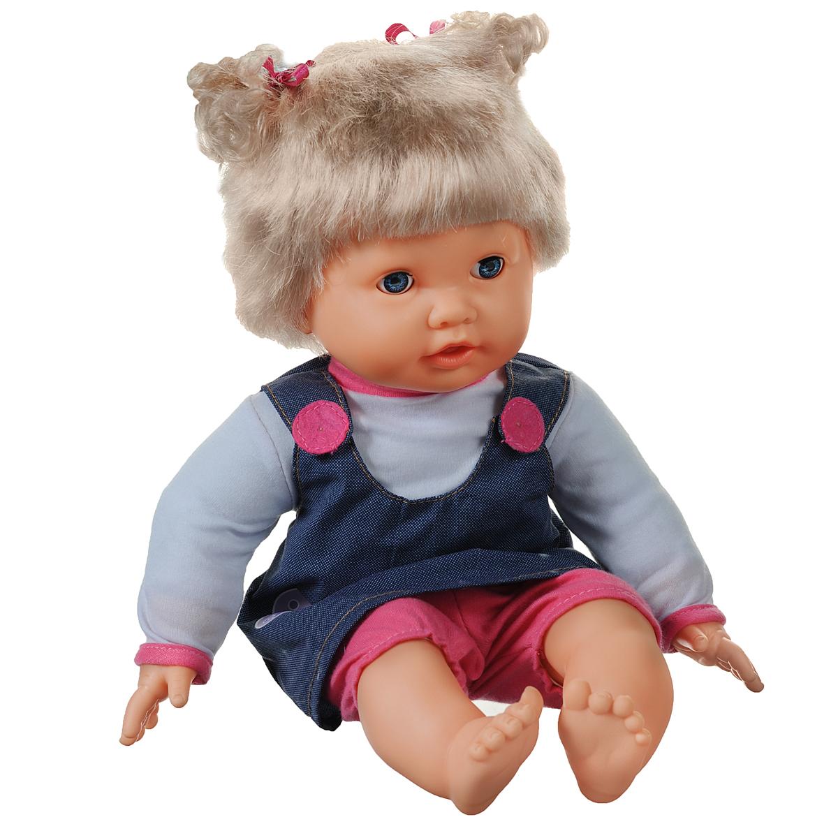 Mary Poppins Пупс Мила Поиграй со мной451100Интерактивная кукла Mary Poppins Поиграй со мной по имени Мила выглядит и ведет себя, как настоящий ребенок. Кукла со светлыми волосами и голубыми глазками одета в белую кофточку, синий сарафан и розовые бриджи. Глазки куклы закрываются, если положить ее на спинку. Мила говорит более 12 фраз. Она умеет считать и рассказывает стихотворение: Мама, а я научилась считать! Хочешь, я посчитаю пальчики?.. А ты знаешь стихотворение про пальчики? У Милы есть очаровательная мягкая игрушка-кукла в виде прекрасной звездочки. Если ее прислонить к животику Милы, то она скажет: Здравствуй, моя маленькая куколка! Ты моя самая любимая игрушка!Прикоснитесь левой ручкой куклы к ее губам, и она скажет, например: Это мой ротик! Поцелуй меня, мамочка! и т.д. Если ручки куклы соединить вместе, она скажет, например: Я хлопаю в ладоши! или Ладушки, ладушки, где были? У бабушки… В комплект с куклой входят игрушка и леденец. Игра с куклой разовьет в вашей малышке фантазию и...