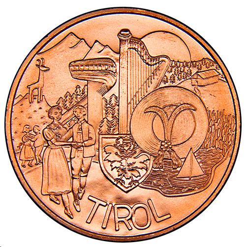Монета номиналом 10 евро Тироль. Австрия, 2014 год656Монета номиналом 10 евро Тироль. Австрия, 2014 год Металл: Cu (Медь) Диаметр: 32,0 мм Масса: 18,0 г Состояние: UNC (без обращения)