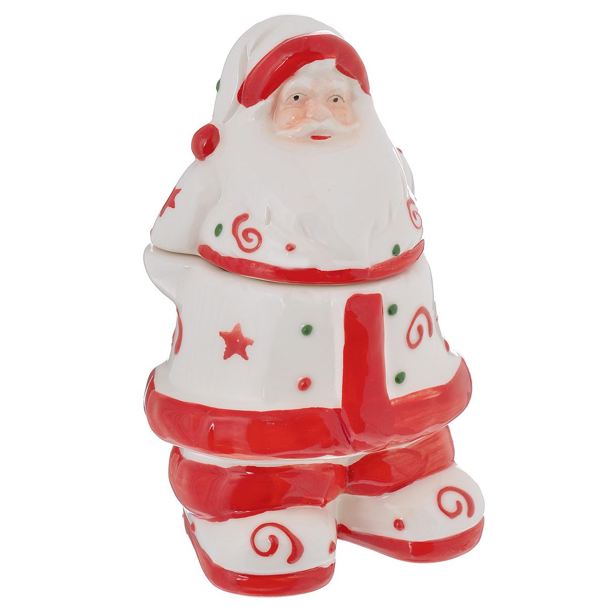 Конфетница Lillo Дед Мороз, 9 см х 7 см х 14 смYM 121159-4C/DКонфетница Lillo Дед Мороз изготовлена из высококачественной керамики и выполнена в форме Деда Мороза. Изделие снабжено крышкой и прекрасно подходит для хранения и сервировки конфет. Конфетница Lillo Дед Мороз станет отличным подарком к Новому году и порадует вас и ваших близких ярким дизайном. Остерегаться сильных ударов. Не применять абразивные чистящие вещества.