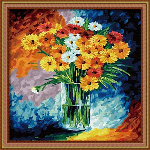 Триптих раскраска по номерам акриловыми красками на