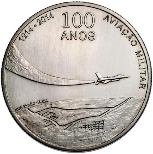 Монета номиналом 2,5 евро 100-летие военной авиации Португалии. Португалия, 2014 год656Монета номиналом 2,5 евро 100-летие военной авиации Португалии. Португалия, 2014 год Металл: Cu-Ni Диаметр: 28 мм Масса: 10,0 г Состояние: UNC