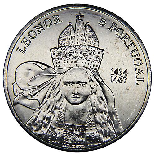 Монета номиналом 5 евро Королева Элеонора. Португалия, 2014 год1806-1808**Монета номиналом 5 евро Королева Элеонора. Португалия, 2014 год Металл: Cu/Ni Диаметр: 30 мм Масса: 14,0 г Состояние: UNC (без обращения) Тираж: 150 000 шт.