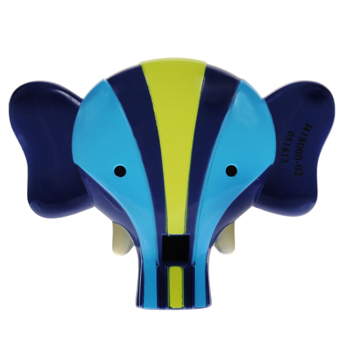 Свисток Battat Слон68663Свисток Battat Слон приведет в восторг вашего малыша! Оригинальный свисток выполнен из яркого безопасного пластика в виде головы слоника. Ребенку понравится извлекать из свистка звуки: достаточно залить в игрушку немного воды, и малыш сможет весело свистеть. Игрушка развивает мелкую моторику, музыкальный слух и творческие способности ребенка. Рекомендуемый возраст: от 2 до 6 лет. История американской компании Battat насчитывает уже более ста лет: начавшись с небольшого семейного бизнеса, со временем производство приобрело гораздо более внушительные размеры. Сегодня Battat - это крупнейший производитель детских игрушек, известный во всем мире. Ориентируясь на интересы и предпочтения детей разного возраста, разработчики Battat создают уникальные развивающие игрушки высокого качества.