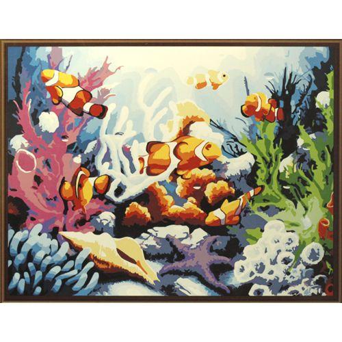 Живопись на холсте Fresh Art Морские просторы, 40 х 50 см G3117704777Живопись на холсте Fresh Art Морские просторы - это набор для раскрашивания по номерам красками на холсте. Каждая краска имеет свой номер, соответствующий номеру на картинке. Нужно только аккуратно нанести необходимую краску на отмеченный для нее участок. Таким образом, шаг за шагом у вас получится великолепная картина. С помощью такого набора вы можете стать настоящим художником и создателем прекрасных картин. Вы получите истинное удовольствие от погружения в процесс творчества, и созданные своими руками картины украсят интерьер вашего дома или станут прекрасным подарком. Техника раскрашивания на холсте по номерам дает возможность легко рисовать даже сложные сюжеты. Прекрасно развивает художественный вкус, аккуратность и внимание. В набор входят: - профессиональный прогрунтованный холст из 100% хлопка, натянутый на деревянный подрамник, - специально разработанные нетоксичные, экологичные, безопасные, устойчивые к выцветанию краски (24 цвета),...