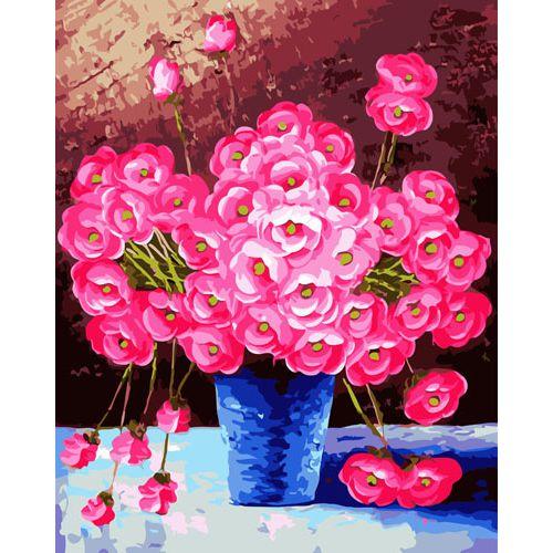 Живопись на холсте Fresh Art Цветы, 40 см х 50 см. G3287704790Живопись на холсте Fresh Art Цветы - это набор для раскрашивания по номерам красками на холсте. Каждая краска имеет свой номер, соответствующий номеру на картинке. Нужно только аккуратно нанести необходимую краску на отмеченный для нее участок. Таким образом, шаг за шагом у вас получится великолепная картина. С помощью такого набора вы можете стать настоящим художником и создателем прекрасных картин. Вы получите истинное удовольствие от погружения в процесс творчества, и созданные своими руками картины украсят интерьер вашего дома или станут прекрасным подарком. Техника раскрашивания на холсте по номерам дает возможность легко рисовать даже сложные сюжеты. Прекрасно развивает художественный вкус, аккуратность и внимание. В набор входят: - профессиональный прогрунтованный холст из 100% хлопка, натянутый на деревянный подрамник, - специально разработанные нетоксичные, экологичные, безопасные, устойчивые к выцветанию краски (24 цвета), -...