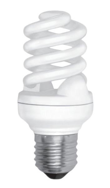 """ESTARES Лампочка энергосберегающая люминисцентная """"Спираль"""" 20W E27 2700K теплый белый 8000h L103mm*D45mm"""
