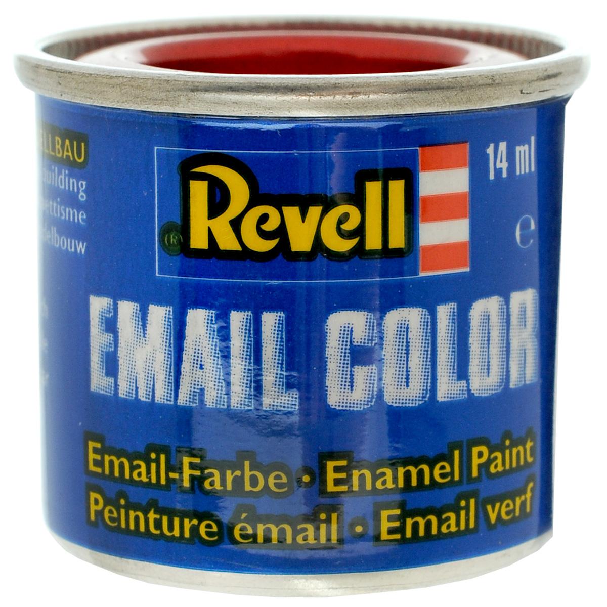 Revell Краска для моделей прозрачная №731 цвет красный 14 мл32731Прозрачная краска Revell красного цвета широко используется для окраски сборных моделей машин, кораблей и самолетов. После полного высыхания базового покрытия можно наносить узор с помощью других цветных красок. Краска упакована в металлическую баночку, плотно закрывающуюся крышкой, что позволяет избежать высыхания краски. Объем краски: 14 мл.