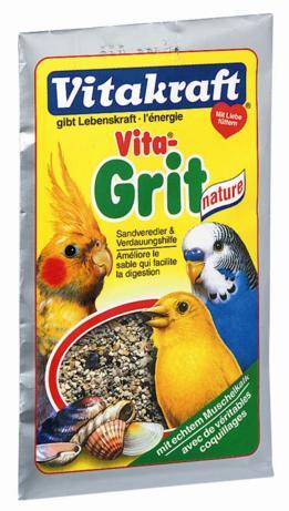Песок для птиц Vitakraft Vita Grit Nature, 50 г11004Натуральный биопесок для птиц Vitakraft Vita Grit Nature высшего качества гарантирует: - птичью клетку без микробов, - приятный запах аниса и цитруса, - улучшает пищеварение, - регулирует обмен веществ, - отличное впитывание жидкости, - улучшает рост перьев. Применение: подсыпайте песок несколько раз в неделю, по крайней мере, 2-3 раза, чтобы предоставить вашим животным чистый без запаха дом и сделать основные минералы доступными в любое время.